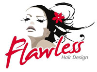 Flawless Hair Design Logo