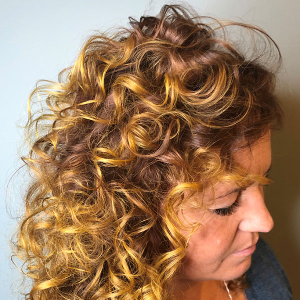 Highlights Curly Textured Blonde